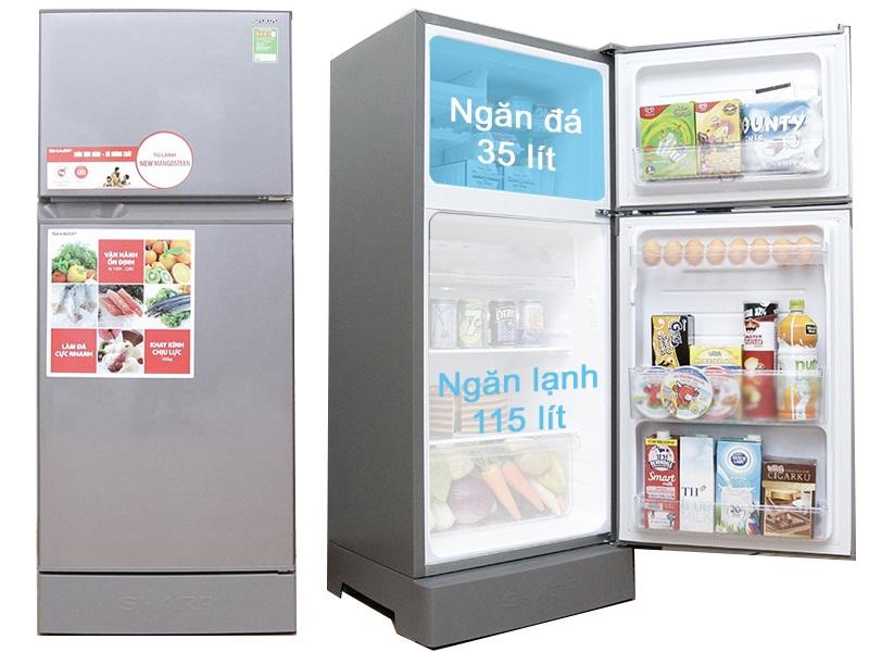Chiếc tủ lạnh nhỏ gọn, phù hợp với những gia đình ít người