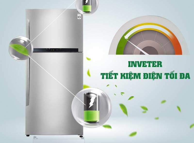 Tiết kiệm điện với công nghệ hiện đại Inverter với tủ lạnh GR- L602S