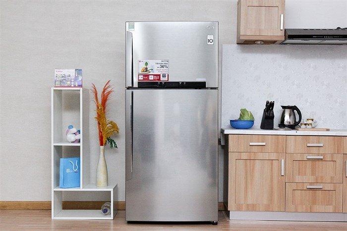 Thiết kế tinh tế, trang nhã, hiện đại với tủ lạnh LG GR – L702S 490 lít