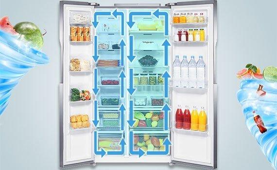 Hệ thống Twin Cooling System duy trì độ ẩm tối ưu của tủ lạnh RS552NRUASL/SV