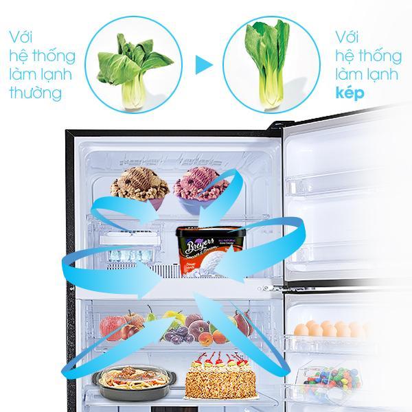 Hệ thống làm lạnh kép giúp bảo quản thực phẩm tươi sống.