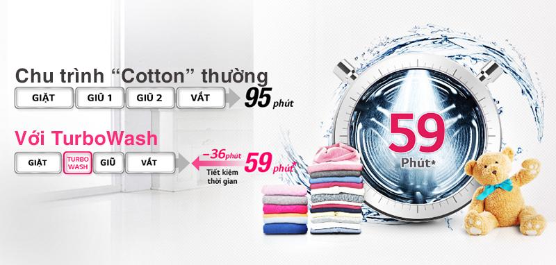 Chế độ giặt Turbowash tiết kiệm chi phí tối đa