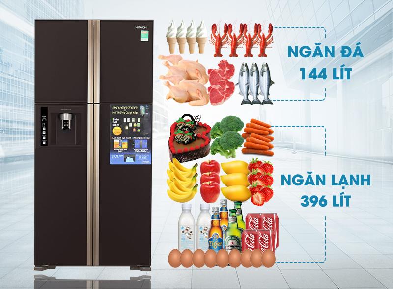 Thiết kế sang trọng tinh tế với tủ lạnh Hitachi R-W660FPGV3X GBW 540 lít