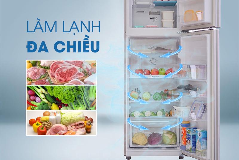 Khí lạnh đa chiều bảo quản thực phẩm tốt hơn