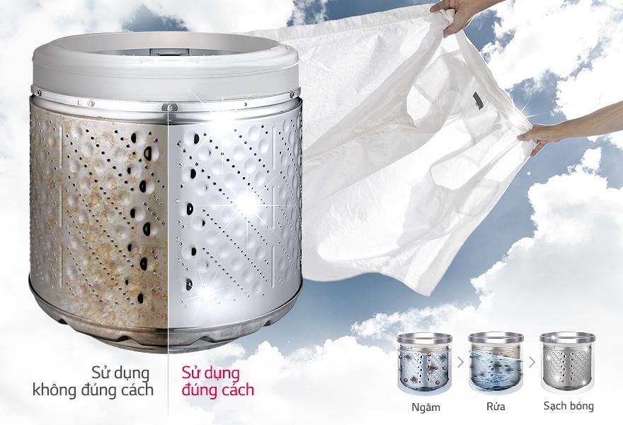Chế độ vệ sinh lồng giặt tiện lợi