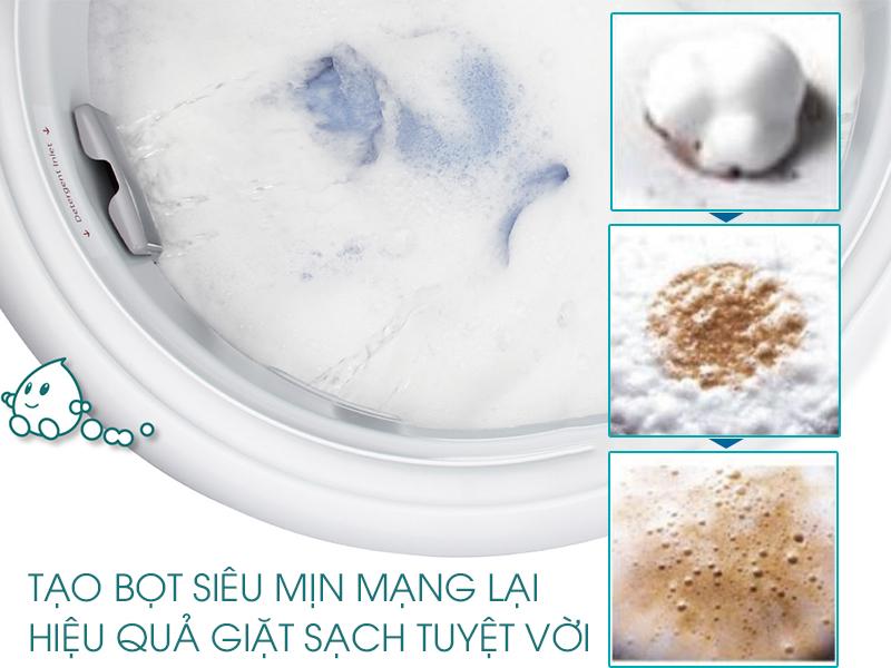 Công nghệ giặt sạch hiệu quả với khả năng tạo bọt ưu việt