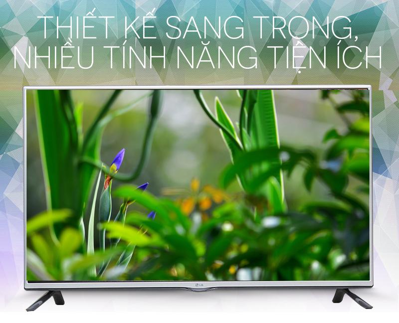 Ấn tượng với kích thước Tivi LG 42 inch 42LF550T mỏng nhẹ, tinh tế cùng đường viền sắc sảo