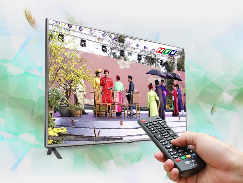 Đầu thu DVB-T2 tích hợp trên LG 42LF550T giúp thu được nhiều kênh truyền hình kỹ thuật số tuyệt hảo