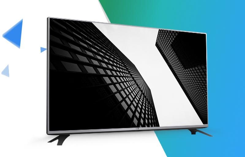 Tivi LG 43 inch 43LF540- Thiết kế kim loại mạnh mẽ cùng chân đếvững chãi cho màn hình 43 inch.