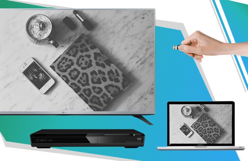 Kết nối nhanh chóng với thiết bị như laptop, USB, đầu DVD,…