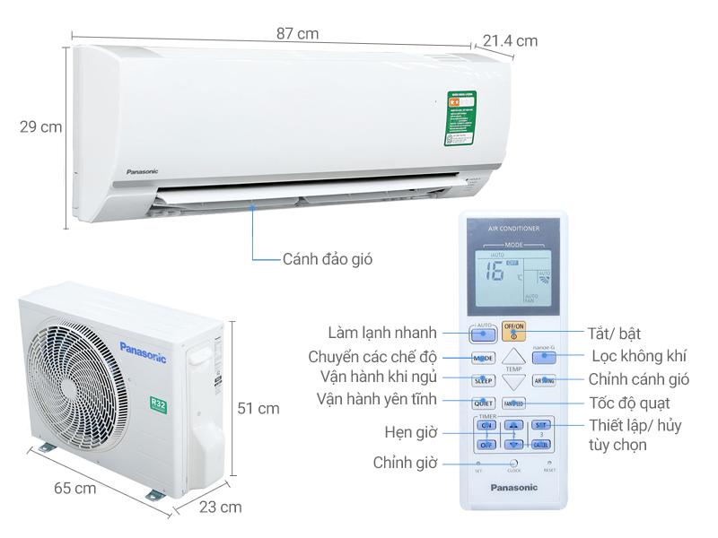 Thông số kỹ thuật của thiết bị điều hòa Panasonic N12SKH-8