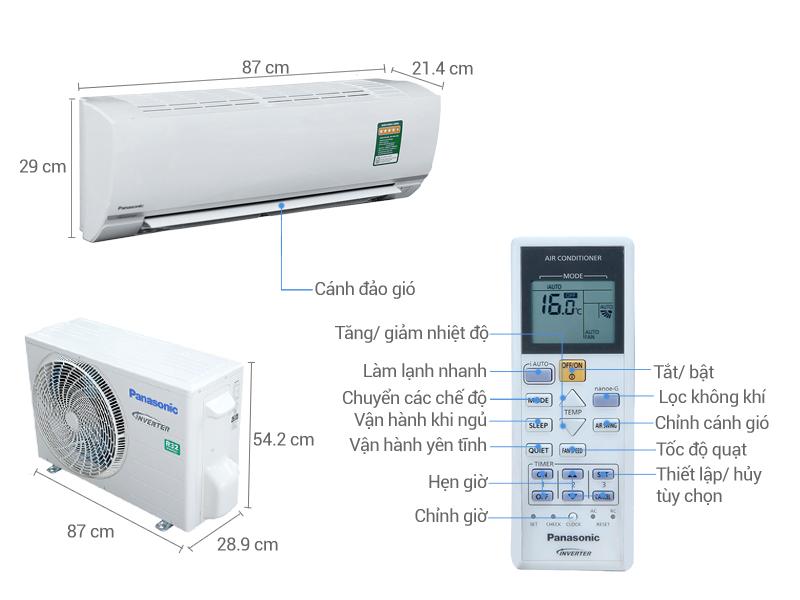 Thông số kỹ thuật của thiết bị điều hòa Panasonic PU24TKH-8