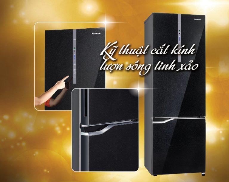 Nét hoàn hảo tới từ mặt gương đặc trưng với tủ lạnh Panasonic 290 lít NR-BV328GKVN