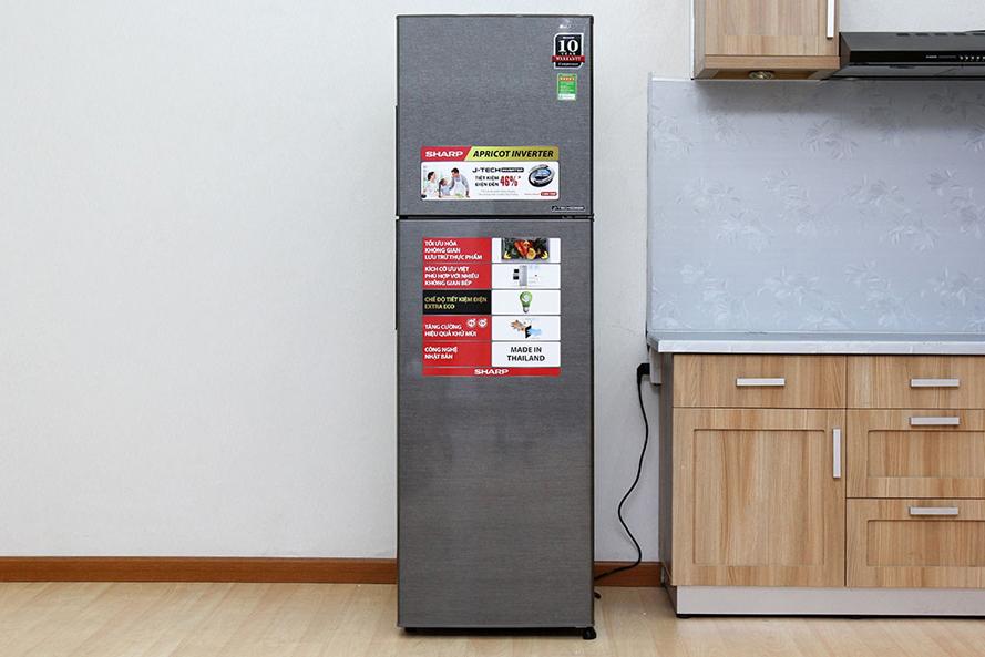Thiết kế kiểu dáng sang trọng và tinh tế - Tủ lạnh Sharp SJ-X251E-DS 241 lít