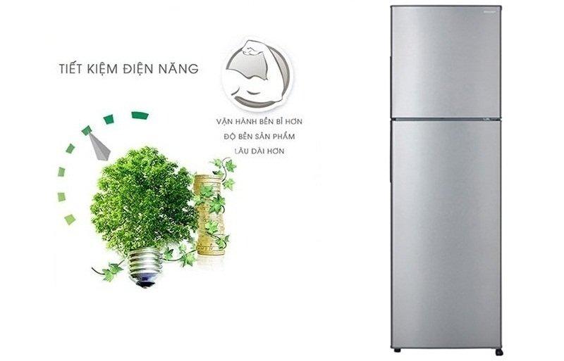 Tiết kiệm hơn với công nghệ J-Tech Inverter với tủ lạnh Sharp 241 LÍT SJ-X251E-DS