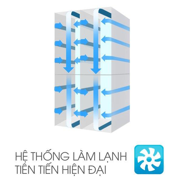 Làm lạnh dễ dàng với cơ chế thích hợp với tủ lạnh Sharp Inverter SJ-X251E- DS