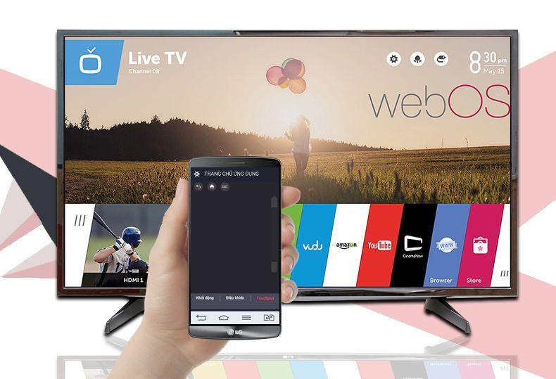 Tivi LG 49LH590T- Sử dụng điện thoại như remote tivi