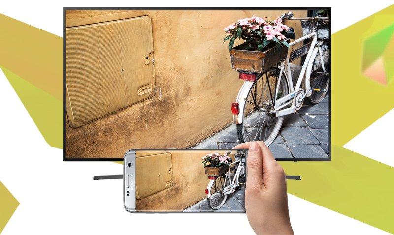 Tivi Sony 49W750E- Chiếu màn hình điện thoại, máy tính lên tivi