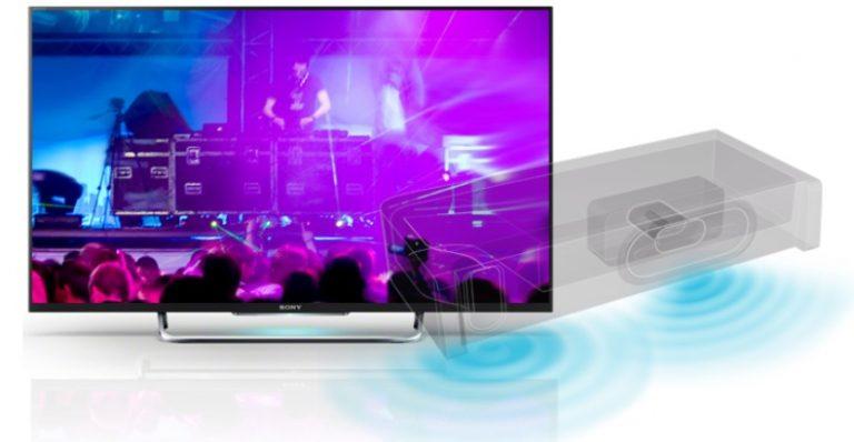 Chất lượng âm thanh sống động, mạnh mẽ với Smart tivi Sony 50W800C