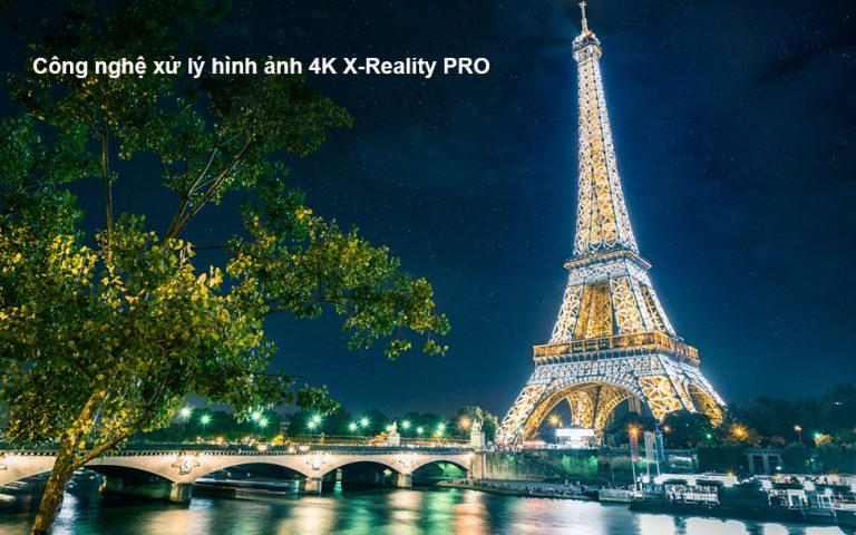 Công nghệ 4K X-Reality Pro giúp tăng cường độ sắc nét hiển thị hình ảnh của tivi Sony 43X8000