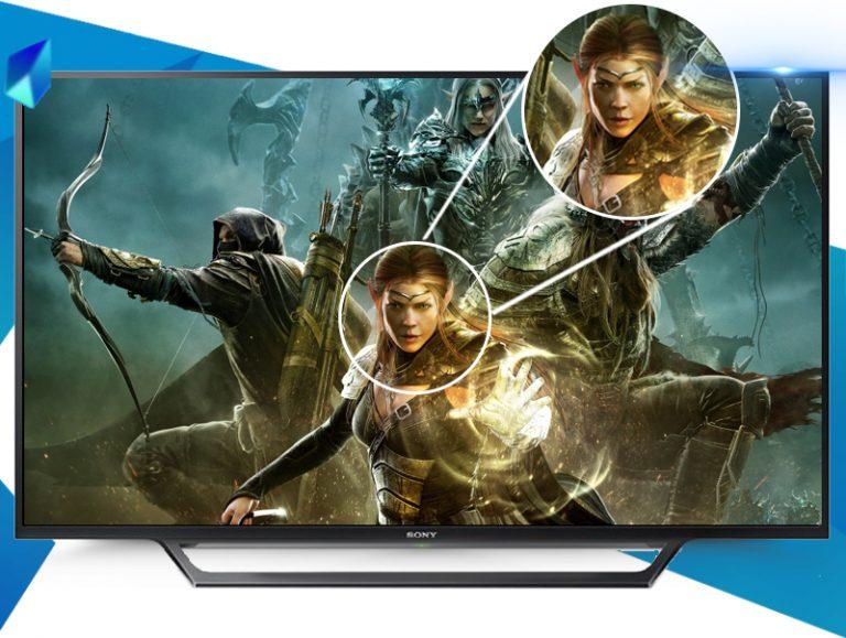 Chất lượng hình ảnh Full HD của Tivi Sony 48W650 với chip xử lý X-Reality™ PRO