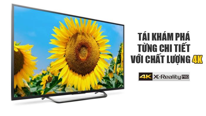 Chất lượng hình ảnh sắc nét với độ phân giải 4k của tivi sony 43X8000E