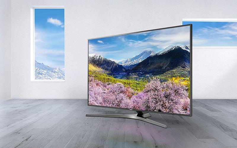 Tivi UA55MU6400 có độ phân giải Ultra HD 4K