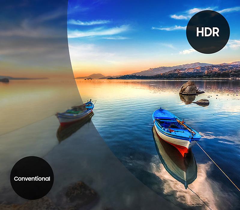 Công nghệ HDR tăng cường độ sáng của tivi Samsung 55MU6400