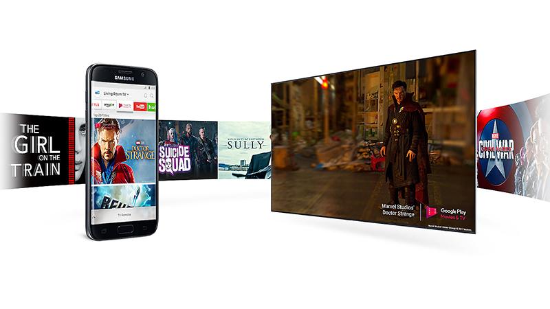 Điều khiển tivi, chia sẻ hình ảnh từ điện thoại của tivi Samsung UA55MU6400