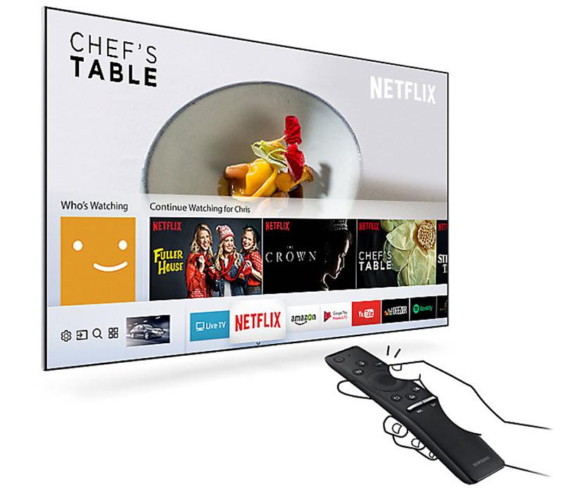 Giao diện Smart Hub dễ dàng tìm kiếm của tivi 55MU6400