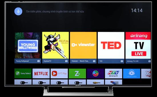 Xem truyền hình kỹ thuật số miễn phí của tivi Sony 4k 43X8000