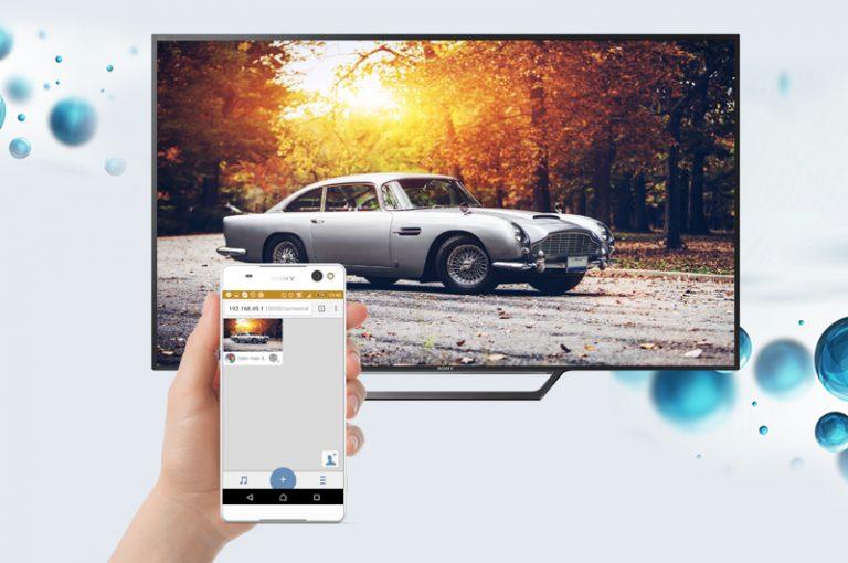 Chia sẻ hình ảnh từ điện thoại lên tivi nhờ Photo Sharing Plus của Tivi Sony 40W650 D