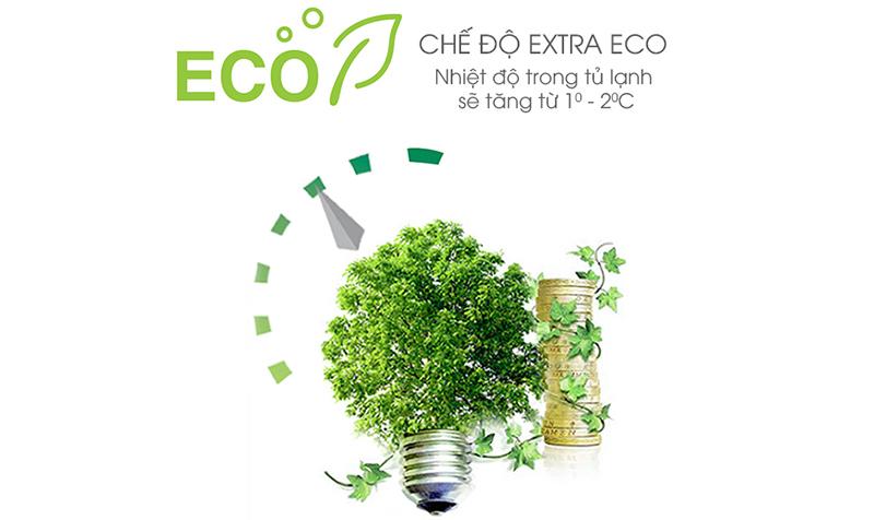 Chế độ Extra Eco hiệu quả của tủ lạnh SJ-X346E-DS