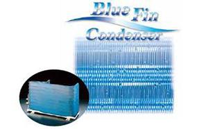 Dàn tản nhiệt màu xanh của Điều hòa 1 chiều Sharp AH-X12STW 12.000 BTU