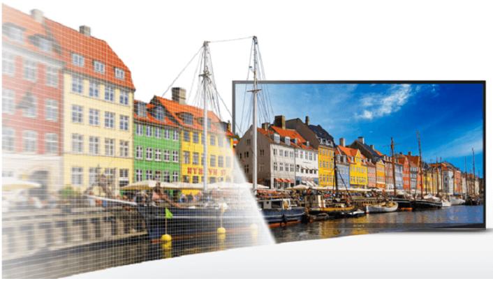 Tivi 32w610E đạt chất lượng hình ảnh sắc nét đến ngạc nhiên