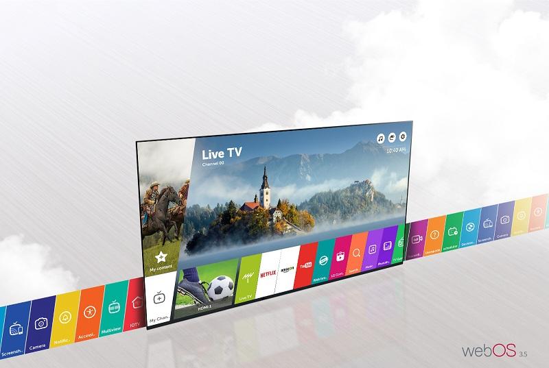 Smart Tivi LG 55LJ550T sử dụng hệ điều hành WebOS 3.5 thông minh dễ sử dụng