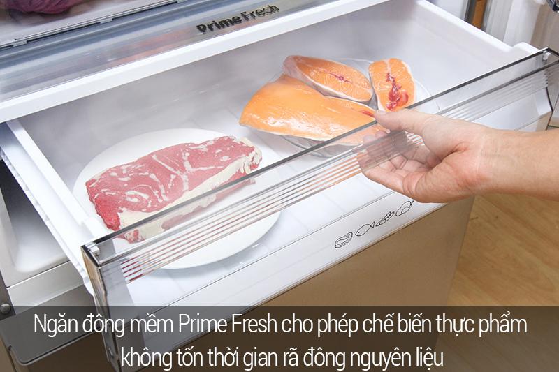 Sử dụng ngăn cấp đông chất lượng cao của Tủ lạnh NR-BX468VSVN