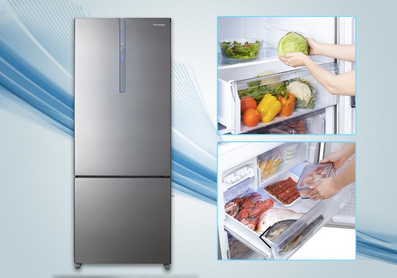 Ấn tượng ngày từ thiết kế với Tủ lạnh Panasonic 405 lít NR-BX468XSVN