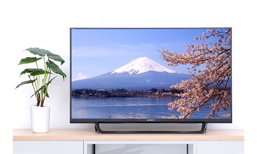 Tivi sony 43W 750E sở hữu một thiết kế hiện đại, trang trọng và tinh tế