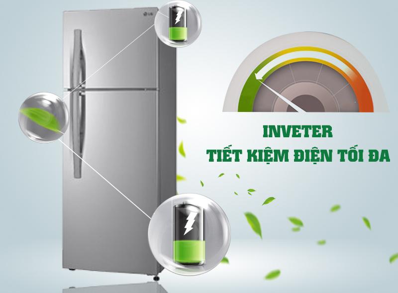 Tiết kiệm điện hiệu quả nhờ hệ thống Inveter của tủ lạnh Inverter GN-L225BS
