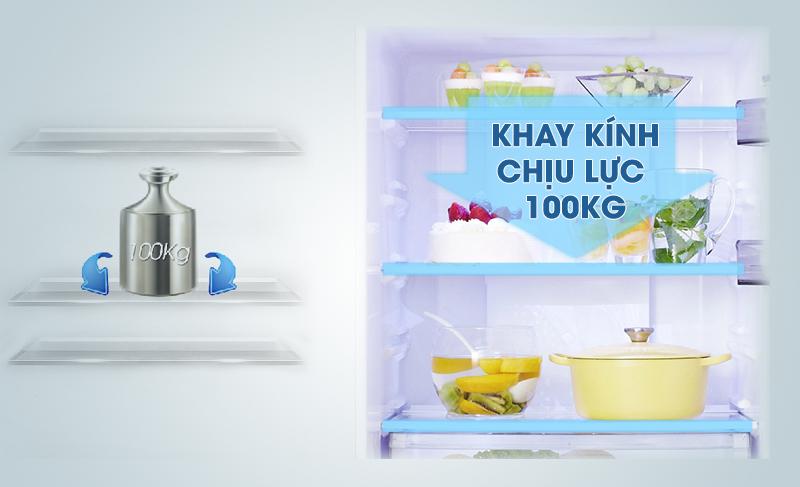 Khay nhựa mạnh mẽ với tủ lạnh Panasonic inverter 363 lít NR-BD418VSVN