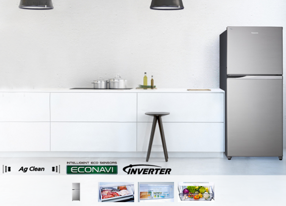 Tủ lạnh Panasonic 363 lít NR-BD418VSVN thiết kế với vẻ ngoài sang trọng