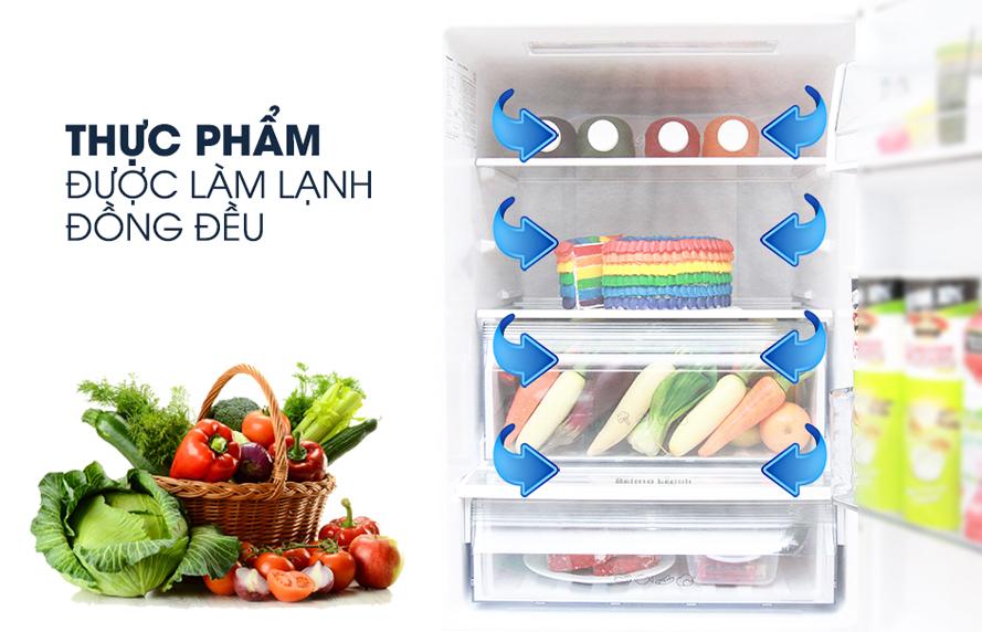 Khả năng làm lạnh sâu và đồng đều với tủ lạnh Panasonic NR-BD418VSVN