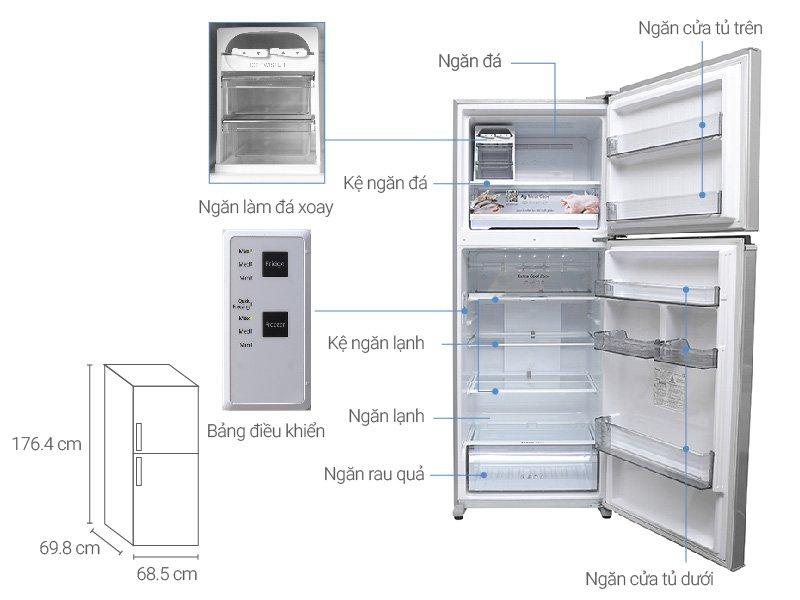 Tỉ mỉ trong từng chi tiết với Tủ lạnh Panasonic 405 lít NR-BD468VSVN