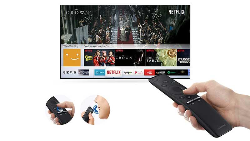 Samsung 43MU6100 sử dụng dễ dàng với chiếc Remote thông minh