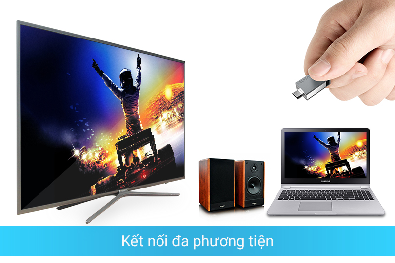 Smart tivi SamSung 49 inch có khả năng kết nối đa phương tiện