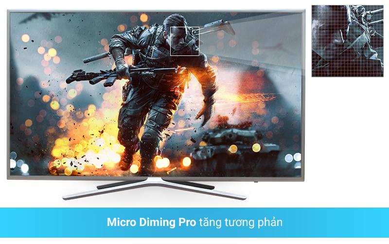 Micro Diming Pro tăng màu sắc, độ nét, độ tương phản lên gấp 3 lần với tivi 49M5500