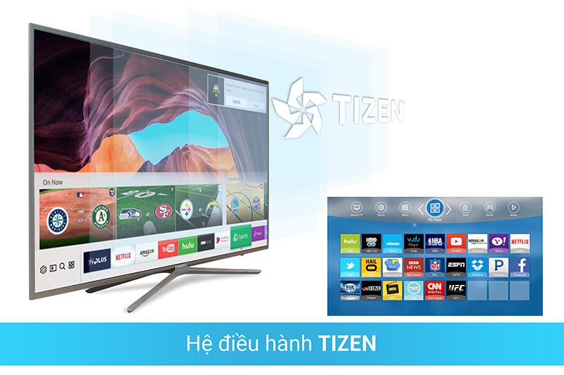 Hệ điều hành Tizen với kho ứng dụng phong phú với Tivi SamSung 49M5500