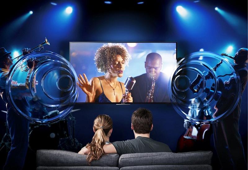 Âm thanh như vây quanh bạn với công nghệ ClearAudio+ với 55X9000C
