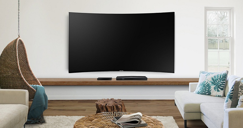 Tivi Samsung 55 inch sở hữu thiết kế cong ấn tượng sang trọng